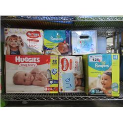 LOT OF ASSORTED DIAPERS