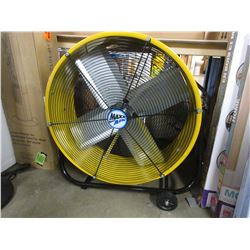 LARGE YELLOW COMMERCIAL MAXX AIR FAN