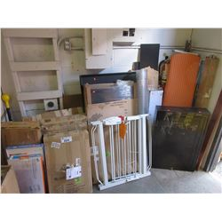 LARGE LOT OF ASSORTED HOUSEHOLD ITEMS & FURNITURE