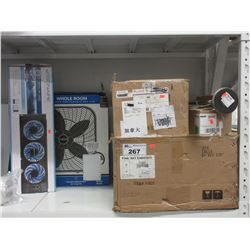 LOT OF ASSORTED LIGHTING & FANS