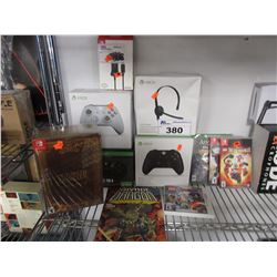 LOT OF ASSORTED GAMING ACCESSORIES & GAMES
