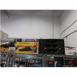 """TRAILER-AID 4 1/2"""" LIFT CHOCK, SMALL PLASTIC SHELVING, MISC"""