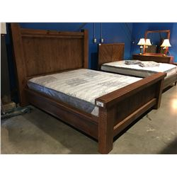 CALIFORNIA KING SIZE POSTER BED (HEADBOARD, FOOTBOARD & RAILS)
