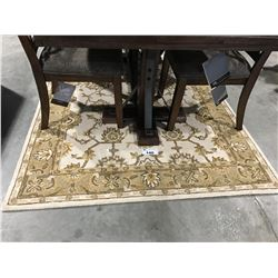 HAND TUFTED 100% WOOL MULTI COLORED BROWN & BEIGE 5' X 8' AREA RUG