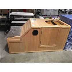 SERENITY INFRA RED HALF SAUNA (NOT WORKING UNKNOWN ELECTRICAL ISSUE)