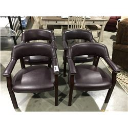 SET OF 4 PUB STYLE/POKER ROOM ARM CHAIRS