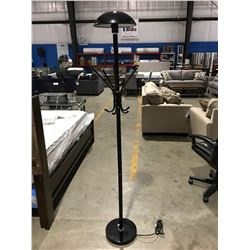 BLACK FLOOR LAMP/COAT TREE