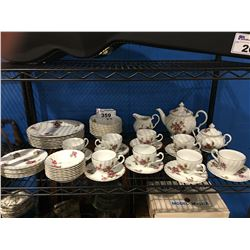 52 PCE SET OF JOHNSTON BROTHERS IRONSTONE DINNERWARE - ENCHANTMENT
