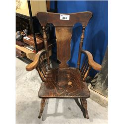 ANTIQUE WOODEN ROCKING CHAIR EARLY 1900'S