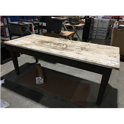 RUSTIC WOODEN PLANK FARMERS/HARVEST STYLE TABLE