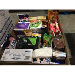 PALLET LOT OF ASSORTED FOOD PRODUCTS - BLUE RIBBON RICE, GATORADE, CHEERIOS, POP CORN ECT.