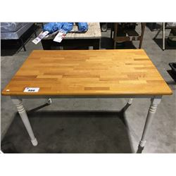 NATURAL AND WHITE SMALL DINETTE TABLE