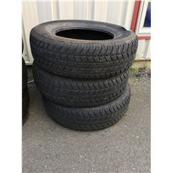 SET OF 3 CHAMPIRO WT/75 GT RADIAL AUTOMOBILE TIRES 205/75 R15 M+S