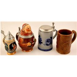 Four Beer Steins
