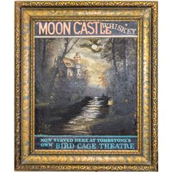 Moon Castle Whiskey Advertising, Oil on Canvas