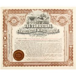 Tombstone Consolidated Mines Co. Stock Cert.
