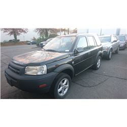2002 LAND ROVER FREELANDER, BLACK, 4DRSW, GAS, AUTOMATIC, *NO KEYS, NOT ROADWORTHY MUST TOW*,
