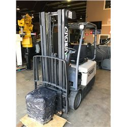 2006 CROWN SC4020-30TT190 2 STAGE 2000LBS ELECTRIC FORKLIFT WITH CHARGER