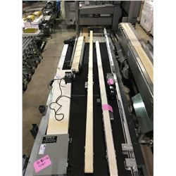 "DORNER 2100 SERIES 14' X 3"" PLASTIC AND STAINLESS CONVEYER WITH MOTOR"