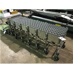 "25' X 18"" STAINLESS STEEL MOBILE ACCORDION CONVEYER"