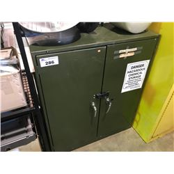 2 DOOR GREEN FLAMMABLE STORAGE CABINET