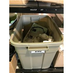 BIN OF SECURITY LIGHTING AND EXIT SIGNS