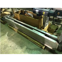 LOT OF 2 INDUSTRIAL METAL FOLD OUT BENCHES