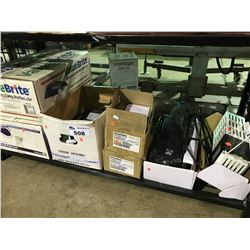 SHELF OF ASSORTED REFLECTOR LIGHTS, BALLASTS AND LIGHTING PRODUCT