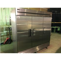 TRUE T-72-HC 3 DOOR STAINLESS STEEL MOBILE COMMERCIAL REFRIGERATOR