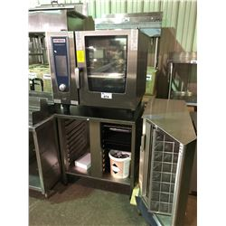 RATIONAL SELFCOOKING XS STAINLESS STEEL, COMBI OVEN COMPLETE WITH TRAY RACK EQUIPMENT STAND ,