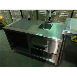 QUEST STAINLESS STEEL BAR SYSTEM WITH HAND WASH SINK