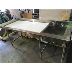 QUEST STAINLESS STEEL PREP COUNTER WITH SINK