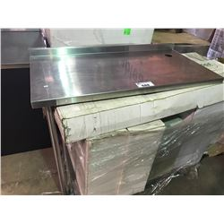 STAINLESS STEEL RESTAURANT EXTENSION TABLE