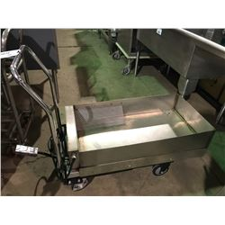 STAINLESS STEEL ELECTRIC  LIFT CART