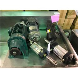 ASSORTMENT OF  MOTORS, HYDRAULIC RAMS