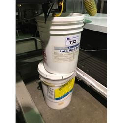 2, 5 GALLON PAILS OF PROBRITE 5111 POWDERED  PLANT AND EQUIPMENT CLEANER, 5 GALLON PAIL OF TRIUMPH