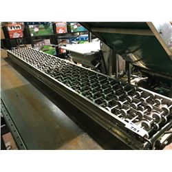 "2 STAINLESS STEEL 16"" FOOD GRADE ROLLER CONVEYOR"