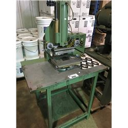 GREEN INDUSTRIAL HEAT PRESS TABLE