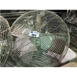 DAYTON WASH DOWN MOTOR WALL MOUNTED INDUSTRIAL FAN