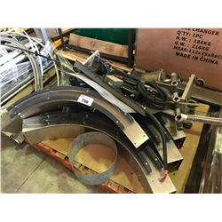 PALLET OF ASSORTED FOOD PROCESSING EQUIPMENT PARTS