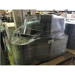 PALLET OF ASSORTED ROLLS OF PVC PLASTIC