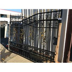 "LEFT AND RIGHT DECOR DRIVEWAY SECURITY GATES APPROX 116"" EACH"