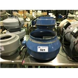 ASSORTED SIZE BLUE INLINE FANS
