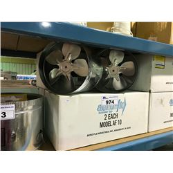 4 BOXES OF 2 AEROFLOW BOOSTER FANS