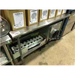 "STAINLESS STEEL 72"" X 30"" PREPARATION TABLE"