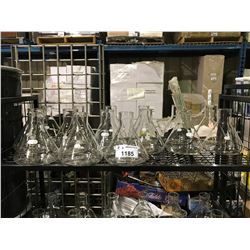 SHELF OF 15 PYREX 2800ML LAB GLASS