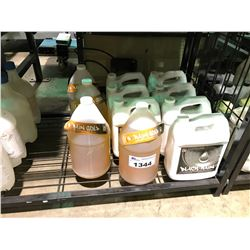 ASSORTED GOLD / BLACK LIQUID PLANT FERTILIZER