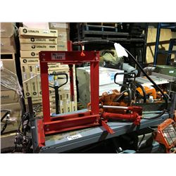 RED BENCH TOP HYDRAULIC PRESS