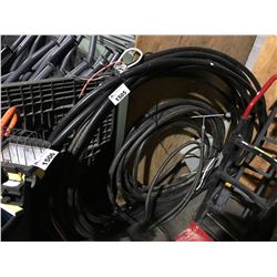 LARGE LOT OF ASSORTED HEAVY DUTY ELECTRIC CABLE