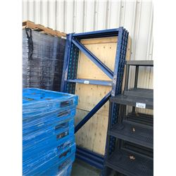 BLUE PALLET RACKING AND BOARDS